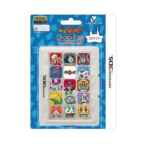 3DS NDS兩用任天堂授權 LEVEL-5 妖怪手錶剋星 白犬隊 12入卡帶盒 白色 LVAC-0005