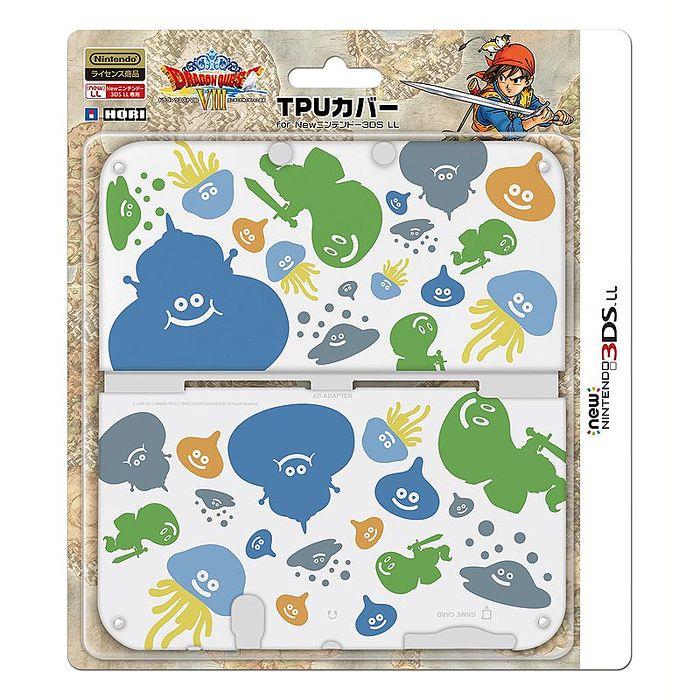 New3DSLL用 HORI TPU材質 勇者鬥惡龍 VIII 勇者鬥惡龍 8 史萊姆果凍套 3DS-460