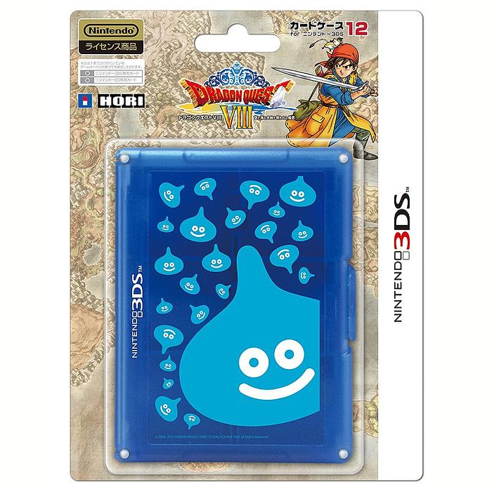 NEW3DS通用 HORI 勇者鬥惡龍 8 勇者鬥惡龍 VIII 史萊姆 12入卡帶盒 藍色 3DS-240