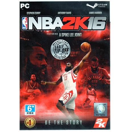 現貨中 PC 遊戲 美國職業籃球 NBA 2K16 中文亞版