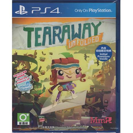 現貨中 PS4遊戲 撕紙小郵差 拆封 Tearaway Unfolded 中文亞版