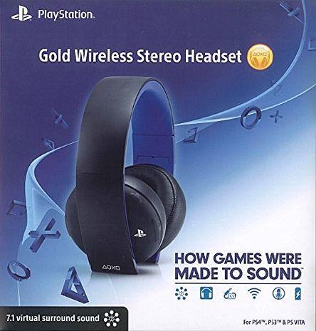 PS4 PS3 PSV PC電腦適用SONY 原廠黃金版 Gold Wireless 7.1 聲道無線耳機 O2 耳麥 美國平行輸入原廠商品