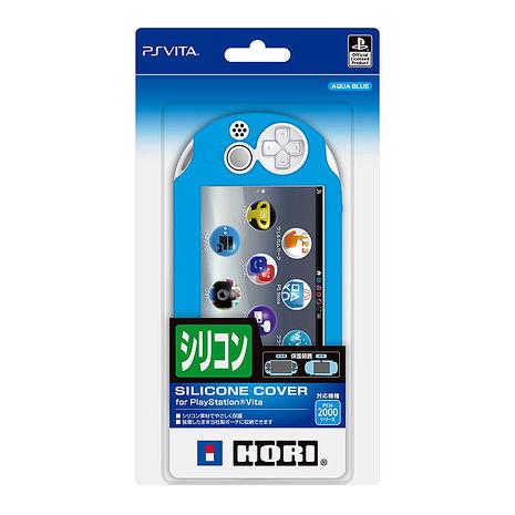 新款 PSVITA PCH-2000型 專用 HORI 新製品 主機保護套 果凍套 PSV-154 水藍色款