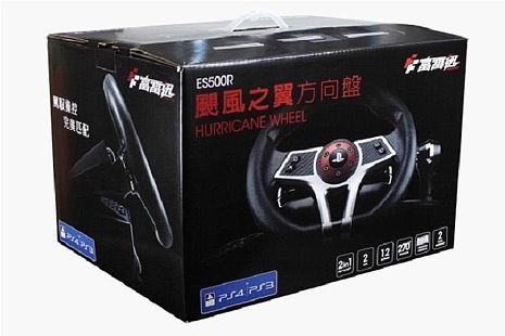 PS4/PS3 富雷迅 FlashFire ES500R 颶風之翼 賽車方向盤 方向盤 GT 駕駛俱樂部