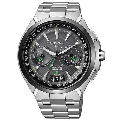 CITIZEN 金城武廣告款宇宙波能光動鈦金屬衛星對時錶(CC1086-50E-48mm)