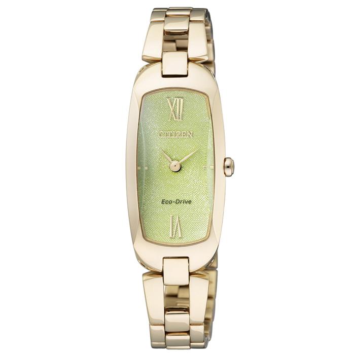 【CITIZEN】L系列 綠野精靈 知性氣質腕錶-香檳金/19mm(EX1102-55W)