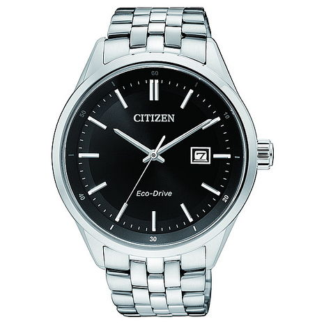 【CITIZEN】GENTS 光動能.時尚不鏽鋼紳士男錶(BM7250-56E)