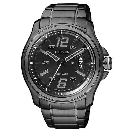 【CITIZEN星辰】東京飄移 光動能時尚腕錶-黑(AW1354-58E)
