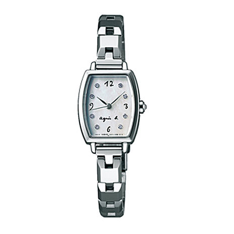 【agnes b.】法式手繪 施華洛世奇晶鑽女錶-銀/19mm(1N01-0RZ0W/BC3090P1)