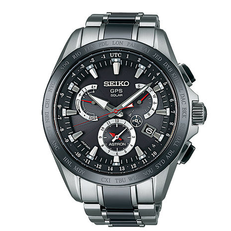 【SEIKO】ASTRON GPS鈦金屬太陽能衛星定位計時腕錶-黑/45mm(8X53-0AB0D/SSE041J1)