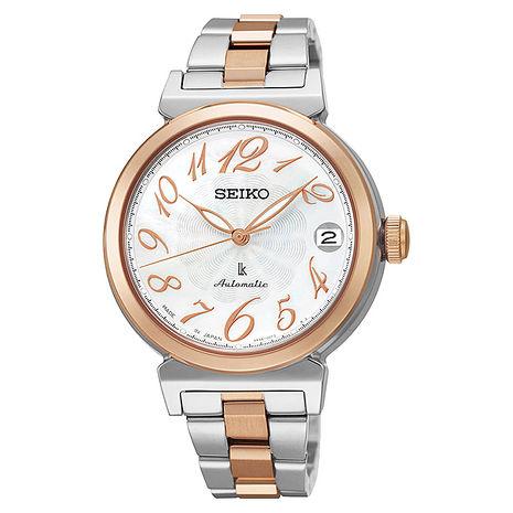 【SEIKO 精工】時光禮物 知性好感典雅機械腕錶-半金(SRP872J1/4R35-00J0KS)