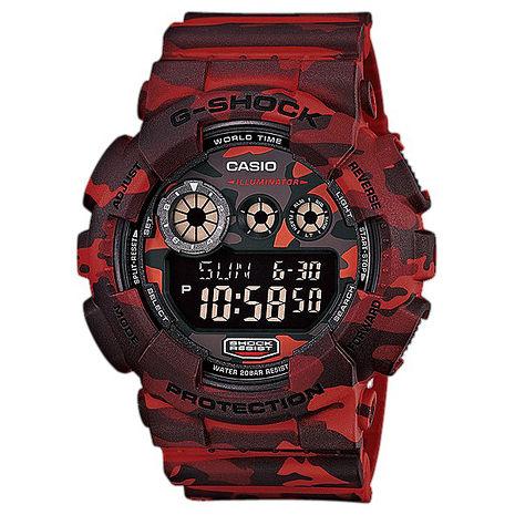 【CASIO 卡西歐】 G-SHOCK 迷彩叢林系列全面進化 GD-120CM-4 迷彩紅