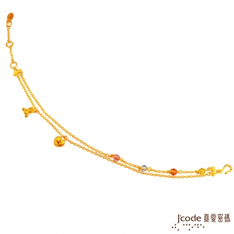J'code真愛密碼 溫馨Rody黃金手鍊(預購)