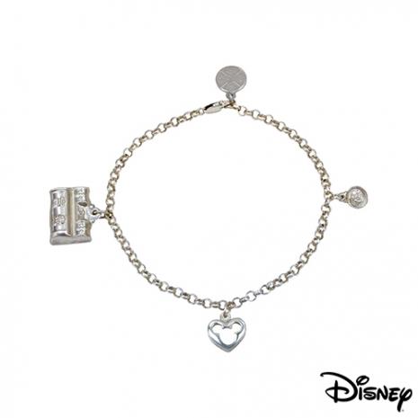 【迪士尼金飾】平安鎖匙純銀手鍊