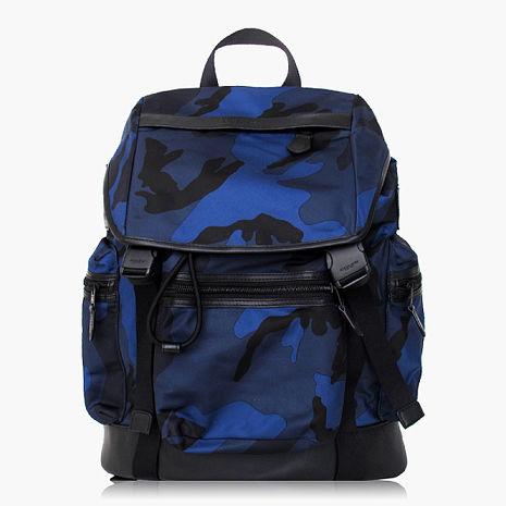 【COACH旅行必備】尼龍 / 背包 / 後背包_迷彩藍