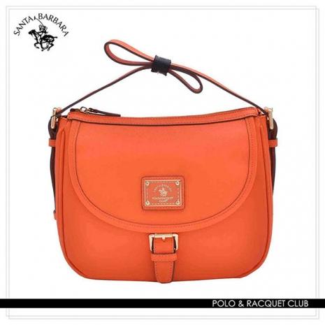 SANTA BARBARA POLO - 幸福微糖系列 肩背/斜背兩用馬鞍包-香橙橘 SB08-03109