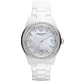 ARMANI 浪漫主義品味陶瓷女錶 AR1426