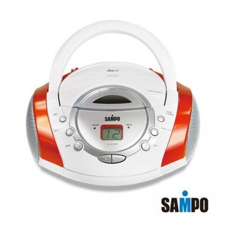 SAMPO聲寶 手提式CD/MP3音響  AK-W709ML白橘色
