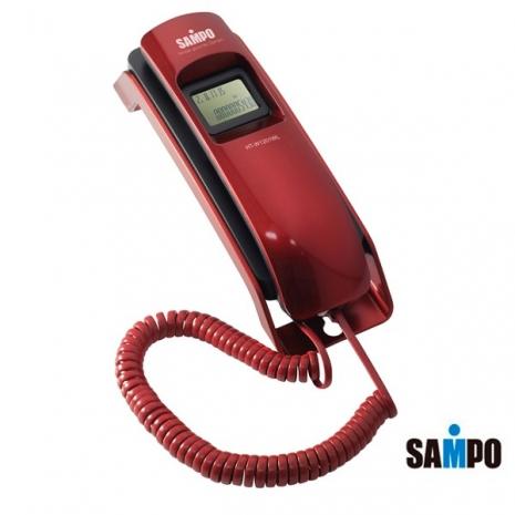 SAMPO聲寶 來電顯示有線電話 HT-W1201WL(紅)