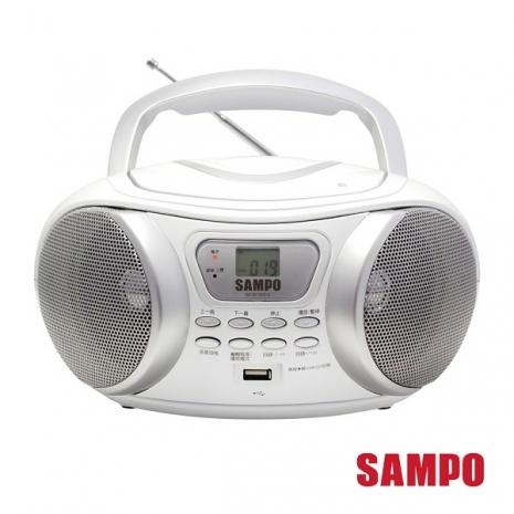 SAMPO聲寶 手提CD/MP3/USB音響 AK-W1302UL(白色)