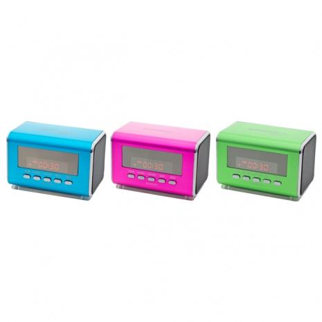 WONDER旺德 USB/MP3/FM 隨身音響 WD-8216U(桃紅)