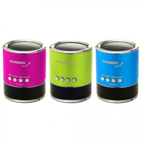 WONDER旺德 USB/MP3/FM隨身音響 WD-9205U(桃紅)