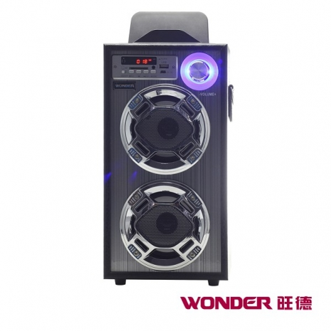 WONDER旺德 卡拉OK歡樂唱隨身音響 WS-P001時尚黑