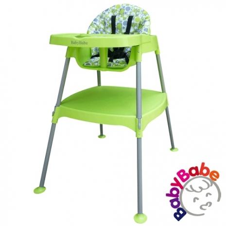 【BabyBabe】多功能兒童餐桌椅-草綠