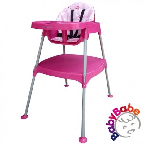 【BabyBabe】多功能兒童餐桌椅-粉紅
