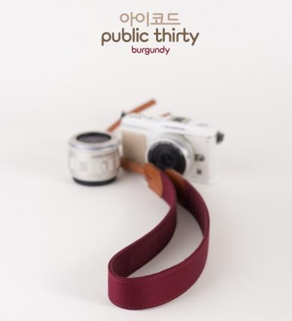 ICODE 幸運草 最流行的彩色相機背帶 PUBLIC 30  [伯朗紅/P1788]