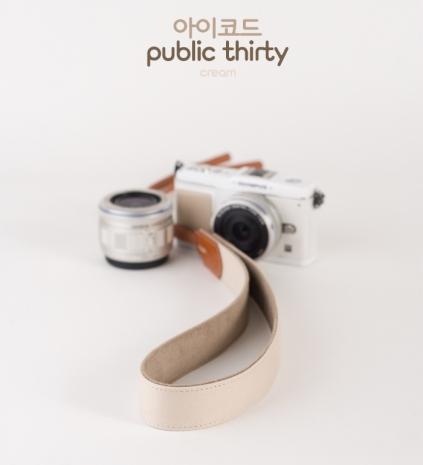 ICODE 幸運草 最流行的彩色相機背帶 PUBLIC 30  [乳白色/P1861]