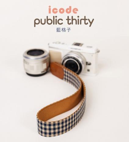 ICODE 幸運草 最流行的彩色相機背帶 PUBLIC 30  [藍格子/P3302]