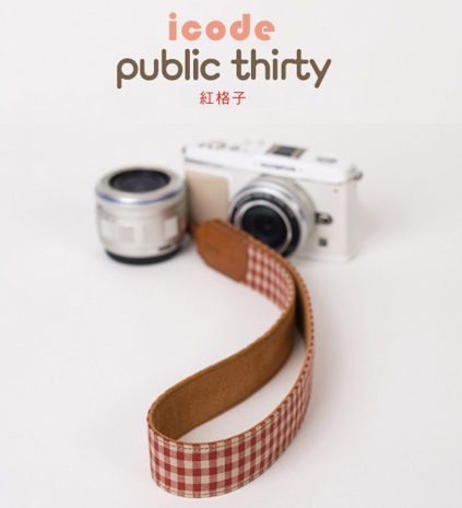 ICODE 幸運草 最流行的彩色相機背帶 PUBLIC 30  [紅格子/P3303]