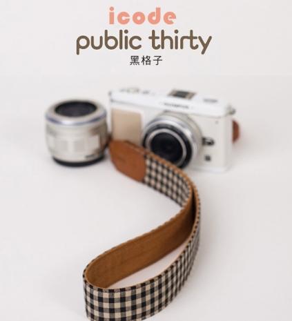 ICODE 幸運草 最流行的彩色相機背帶 PUBLIC 30  [黑格子/P3305]