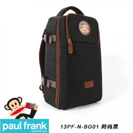 Paul Frank 大嘴猴時尚相機包/休旅型後背包[時尚黑/PF13PF-N-BG01-BK]