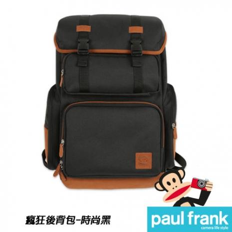 Paul Frank 大嘴猴相機包系列-嬉皮後背包[13PF-C-BP03-BK/時尚黑]