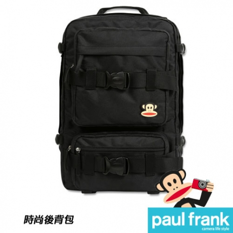Paul Frank 大嘴猴相機包系列-時尚後背包[13PF-C-BP06-BK/時尚黑]