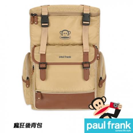 Paul Frank 大嘴猴相機包系列-瘋狂後背包[13PF-C-BP08-BG/米黃]