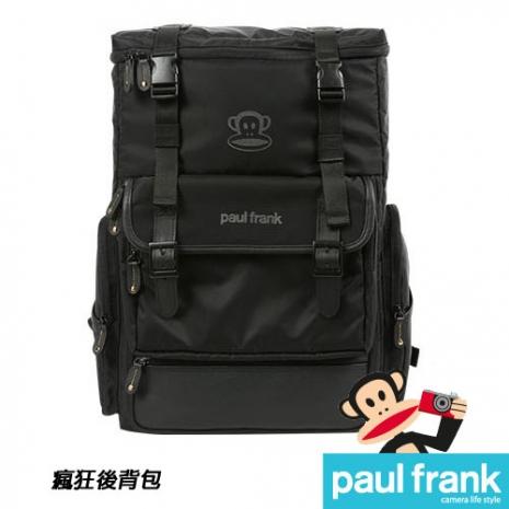 Paul Frank 大嘴猴相機包系列-瘋狂後背包[13PF-C-BP08-BK/時尚黑]