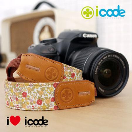 ICODE 幸運草 最流行的彩色相機背帶 PUBLIC 30 -新花色 [黃色小花/P0417]