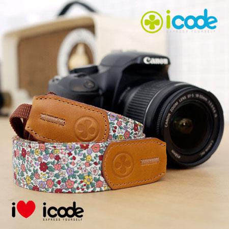 ICODE 幸運草 最流行的彩色相機背帶 PUBLIC 30 -新花色 [紫色小花/P0394]