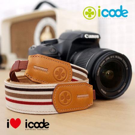 ICODE 幸運草 最流行的彩色相機背帶 PUBLIC 30 -新花色 [紅白條紋/P0325]