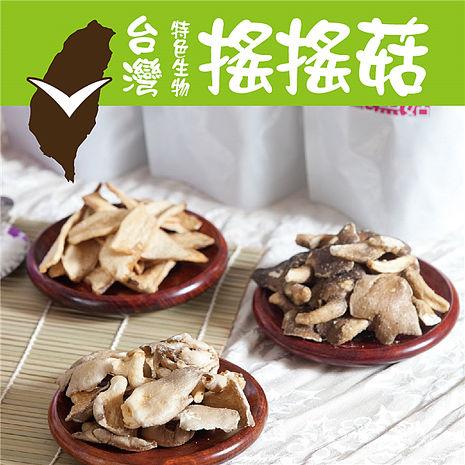 《搖搖菇》海苔香菇酥+甘梅杏鮑菇酥(各一包,共兩包)預購