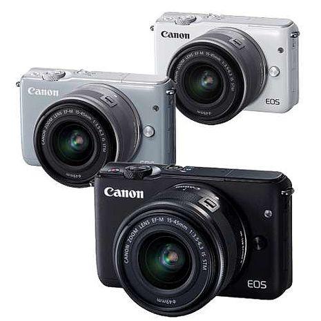 Canon EOS M10 EF-M 15-45mm KIT(公司貨)-送32G+專用鋰電池+減壓背帶+清潔組+保護貼+讀卡機