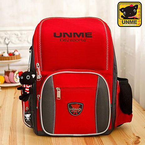 【UNME】日系立體超輕量護脊書包(3211紅色)