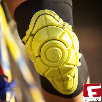 【G-FORM】超耐摔 Knee Pad 護膝 黃色 (極限運動 單車 滑板 直排輪 護具 )