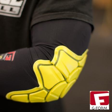 【G-FORM】超耐摔 Elbow Pad 護肘 黃色 (極限運動 單車 滑板 直排輪 護具 )