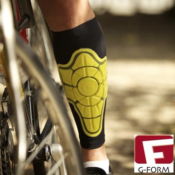 【G-FORM】超耐摔 Shin Pad 護脛 黃色 (極限運動 單車 滑板 直排輪 護具 )