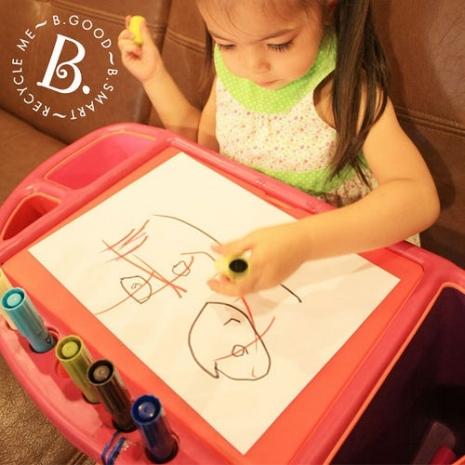 美國B.Toys感統玩具-咻咻創意工作站(藍色款)