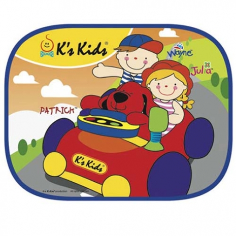 【 美國 K s Kids 車用/安全系列 】可愛汽車側窗遮陽板